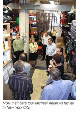 RSN members tour Michael Andrews facility in New York City